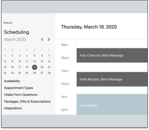 Squarespace Scheduling